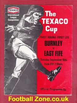 Burnley v East Fife 1973 - Texaco Cup Game - to clear