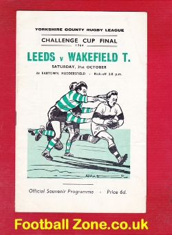 Leeds Rugby v Wakefield Trinity 1964 - Challenge Cup Final