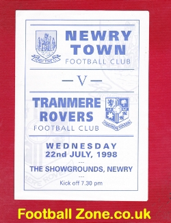 Newry Town v Tranmere Rovers 1998 - Ireland