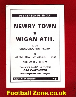 Newry Town v Wigan Athletic 1992 - in Ireland