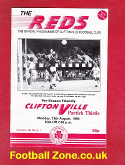 Cliftonville v Partick Thistle 1990 - Ireland
