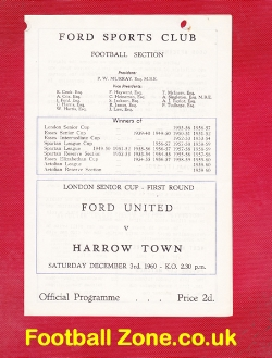 Ford United v Harrow Town 1960
