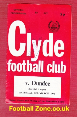 Clyde v Dundee 1972 - Bobby Wison Autograph
