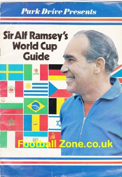 Alf Ramsey World Cup Football Guide Book 1970