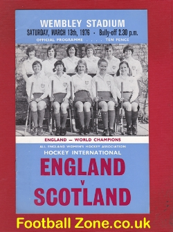 England Womens Hockey v Scotland 1976 - at Wembley