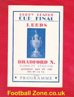 Leeds Rugby v Bradford 1947 - Cup Final Wembley Pirate
