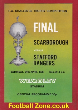 Scarborough v Stafford Rangers 1976 - FA Trophy Final