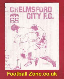 Chelmsford City v Chatham Town 1980s - Floodlight Cup Final