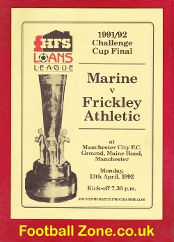 Marine Athletic v Frickley Athletic 1992 - Cup Final at Man City