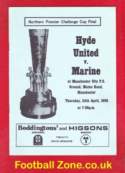 Hyde United v Marine Athletic 1986 - Cup Final at Man City