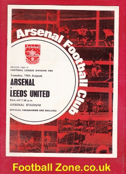 Arsenal v Leeds United 1969