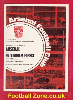 Arsenal v Nottingham Forest 1969