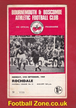 Bournemouth v Rochdale 1969 - to clear