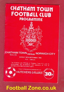 Chatham Town v Norwich City 1984 - Friendly Game