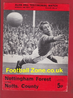 Alan Hill Testimonial Benefit Match Nottingham Forest 1971