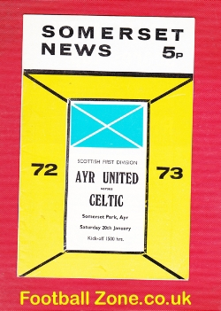 Ayr United v Glasgow Celtic 1973