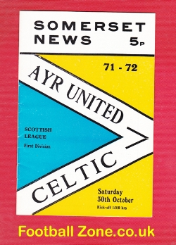 Ayr United v Glasgow Celtic 1971