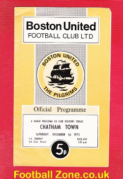 Boston United v Chatham Town 1973