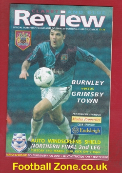 Burnley v Grimsby Town 1998 - Auto W Northern Cup Final