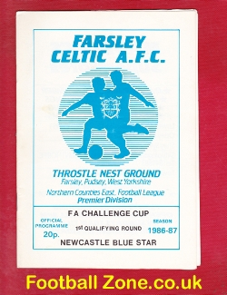 Farsley Celtic v Liversedge 1986 - West Riding County Cup