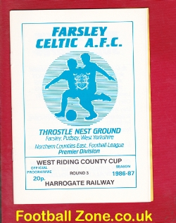 Farsley Celtic v Harrogate Railway 1986 - West Riding Cup