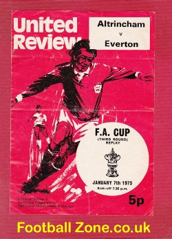 Altrincham v Everton 1975 - FA Cup Replay at Old Trafford