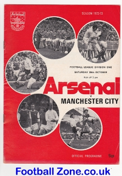 Arsenal v Man City 1972