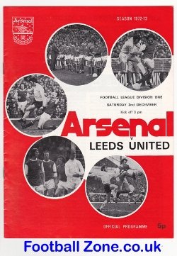 Arsenal v Leeds United 1972