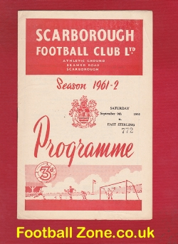 Scarborough v East Stirling 1961 - Friendly Match
