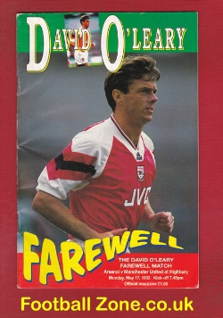 Arsenal v Man Utd 1993 - David O'Leary Farewell Match