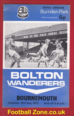 Bolton Wanderers v Bournemouth 1972