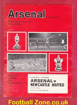 Arsenal v Newcastle United 1971 - League Cup