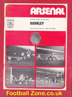 Arsenal v Burnley 1974