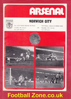 Arsenal v Norwich City 1974 - FA Cup Replay