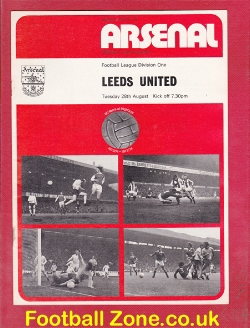Arsenal v Leeds United 1973