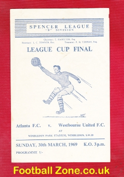 Atlanta v Westbourne United 1969 - Cup Final at Wimbledon