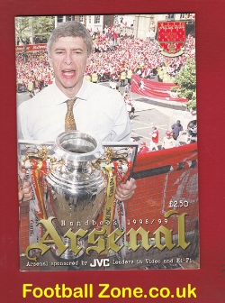 Arsenal Football Club Official Yearbook Handbook 1998 - 1999