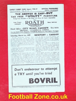 Cardiff Rugby v Newport 1947 - 1940s