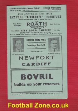 Cardiff Rugby v Newport 1948