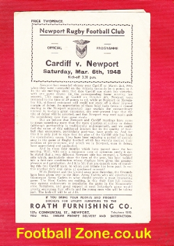 Newport Rugby v Cardiff 1948