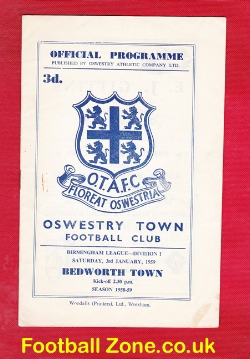 Oswestry Town v Bedworth Town 1959 - Birmingham League