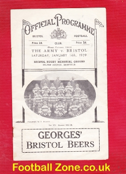 Bristol Rugby v The British Army 1939