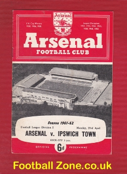Arsenal v Ipswich Town 1962 - League Champions Season