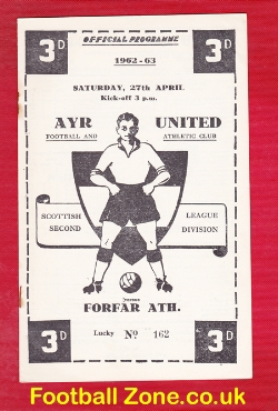 Ayr United v Forfar Athletic 1963