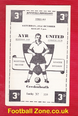 Ayr United v Cowdenbeath 1961