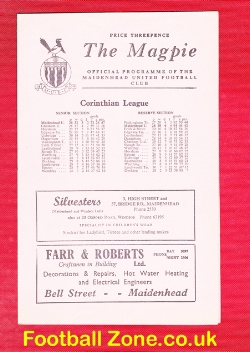 Maidenhead United v Wokingham Town 1962 - Shield Cup Final