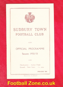 Stowmarket Town v Haverhill Rovers 1951 - Senior Cup Sudbury