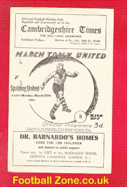 March Town United v Spalding United 1951