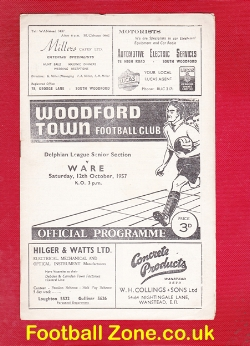 Woodford Town v Ware 1957 - Delphian League