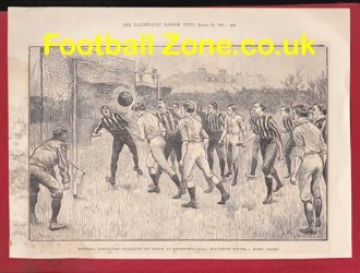 Blackburn Rovers v Notts County 1891 - FA Cup Final Genuine Pic